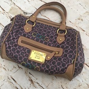 COOGI Purple Signature Shoulder Bag